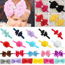 Infant Girl Baby Dressy Flower Bowknot Headwear Headwear Hair Band Headband