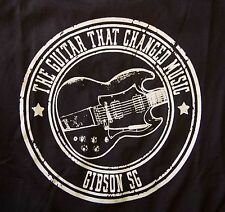 Gibson Sg heavy rock n roll stoner guitar music black t shirt
