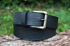 Cristopher Handmade Full Grain Black Leather Belt fitted with roller Buckle