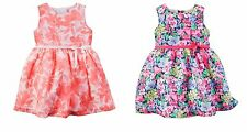 NWT Carters 2-Pc Infant Girl Floral Crepe Dress Bloomer Diaper Cover NB 3 6 18