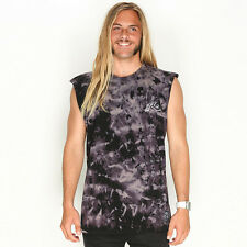New Rusty Bleached Out Muscle Tank in Black | Mens Mens Singlets
