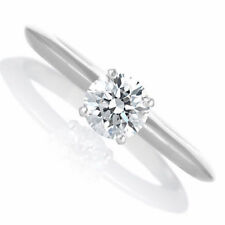 Engagement Ring Diamond Solitaire 0.55CT D VS1 14K White Gold Size 5.75 Enhanced