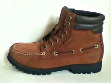 AUTHENTIC TIMBERLAND 7 EYE MOCTOE BROWN BOOTS TB06921R