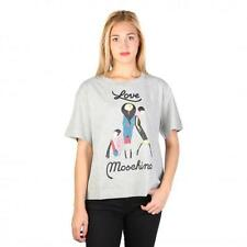 Love Moschino Clothing Women T-shirts Grey 74775 Outlet BDX