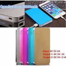 Portable 10000mAh 2 USB External Battery Power Bank Pack Charger Phone Lot GK