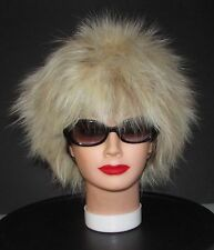 "VINTAGE BEAUTIFUL FLUFFY BUTTERSCOTCH FOX FUR HAT   21""1/2"