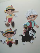 3D - U Pick -  Pinocchio Geppetto Cat Nose Tail Scrapbook Card Embellishment 222
