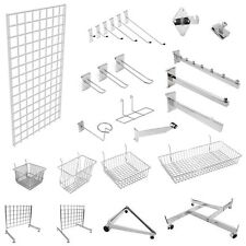 MESH PANEL GRIDWALL MESH CHROME RETAIL SHOP DISPLAY PANEL ACCESSORY HOOK ARMS