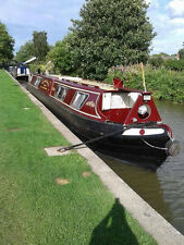 BEAUTIFUL 55ft NARROW BOAT FOR SALE Stern Cruiser - Reverse Layout