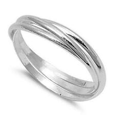 New 925 Sterling Silver Classic Russian Rolling Band All sizes Size 6 Ring