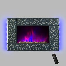 """AKDY® Wall Mount 36"""" 1500W Adjustable Heater Electric Fireplace LED Backlights"""