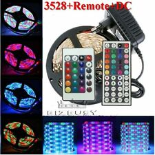 3528 SMD 5M 300leds Flexible LED Strip Xmas Light Tape Lamp Decor+Remote+Power