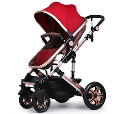 New Design Luxury Baby Stroller High Landscape Four Wheels Folding Baby Carriage