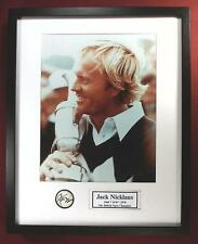 JACK NICKLAUS 1978 BRITISH OPEN CHAMPION 11 X 14 Photography and Ball ShadowBox