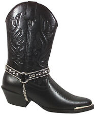 Smoky Mountain Boots Womens Charlotte Black Faux Leather Harness Western