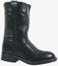 Smoky Mountain Boots Youth Boys Roper Black Leather Cowboy