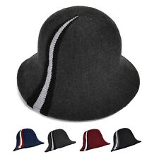 New Elegant Womens Wool Blend Bucket Hat Ladys Formal Wedding Church Dress Cap
