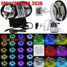 5M/10M/20M 3528 SMD RGB/White 300leds Flexible Light  Strip+Remote+Power Adapter