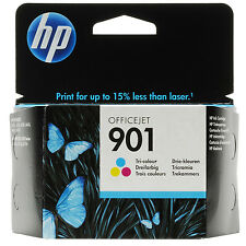 GENUINE HP HEWLETT PACKARD OFFICEJET TRI COLOUR INK CARTRIDGE HP 901 (CC656AE)