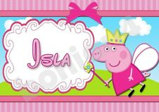 Peppa Pig Personalised Placemat (A4 Size Photo Laminate) great gift