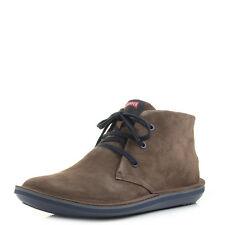 Mens Camper Beetle Afelpado Brown Leather Lace Up Ankle Boots Shu Size