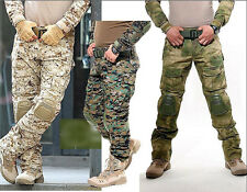 7280 Military Tactical Airsoft Shooting Hunting Paintball Combat Pants Knee Pads