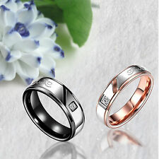 Forever Love Mens/Womens Titanium Steel Couple Rings Wedding Band Promise Ring