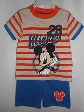 Disney Mickey Mouse Outfit Shorts Two-Piece Summer Cotton Boys Size 4T NWT