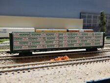 "N SCALE: ""Hickman"" Offset wrapped Lumber load for Red Caboose 73' Centerbeam"