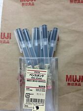 MoMa MUJI Gel Ink Ball Point Pen Black 0.38 x 10 with Pen Stand F/S Japan import
