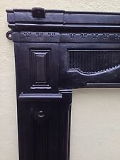 Large Victorian Cast Iron Fire Surround