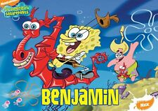 Spongebob Personalised Placemat (A4 Size Photo Laminate) great gift