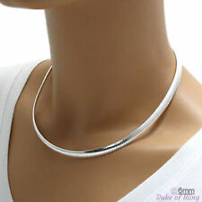 """6.0mm 925 Sterling Silver DOMED OMEGA Chain Necklace, 16"""" 18"""" 20"""", Made in Italy"""