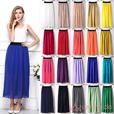 Ladies Maxi Dress Skirt Chiffon Summer Skirt 20 Colours