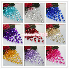 500x 10mm 4ct Acrylic Diamond Confetti Wedding Party Decoration Table Scatters