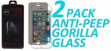 2x Anti Spy Privacy Tempered Glass Screen Protector For Apple iPhone 5 5S 5C SE