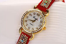 Fashion Womens Ladies Watches  Leather Strap Analog Quartz Wrist Watch