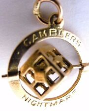 Vintage  GAMBLERS NIGHTMARE  SPINNING DICE 9ct gold  charm  Maker GJLd., 1958
