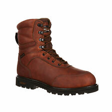 Rocky Mens Medium Brown Leather Brute WP 2000G Insulated Hunting Boots