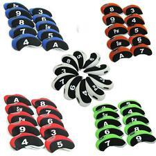 10XNeoprene Golf Club&Wedge Iron Head Covers For Taylormade,Ping,Mizuno,Titleist