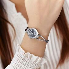 Chic Women Stainless Steel Quartz Wrist Watch Lady Girls Bracelet Bangle Watches