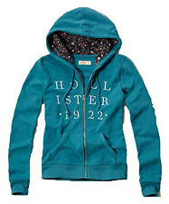 New Hollister By Abercrombie Women's Hoodie Sweatshirt Turquoise 2016 Nwt