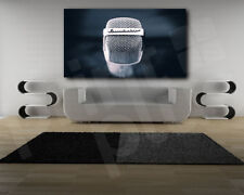 Microphone Close Up Canvas Art Poster Print Wall Decor