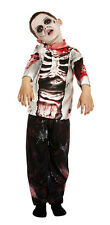 BOYS GIRLS KIDS ZOMBIE COSTUME FULL FANCY DRESS HALLOWEEN OUTFIT NEW AGE 4-12