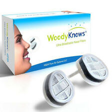 Dust Mask WoodyKnows Nasal Filters Air Pollution Nose Pollen Allergy Relief