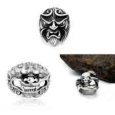 Men's Gothic Rocker Biker Vintage Huge Silver 316L Stainless Steel Skull Ring