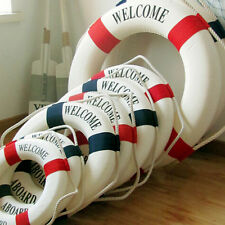 1x Welcome Aboard Nautical Life Lifebuoy Ring Boat Wall Hanging Home Decor