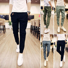 Stylish Mens Fashion Casual Slim Fit Skinny Harem Trousers slacks Long Pants New