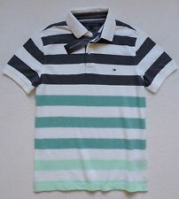NWT Tommy Hilfiger Men's Slim Fit Short Sleeve Striped Polo Size: M