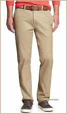 BANANA REPUBLIC MENS AIDEN SLIM Fit Chino Beige Pants NEW FREE FAST SHIPPING